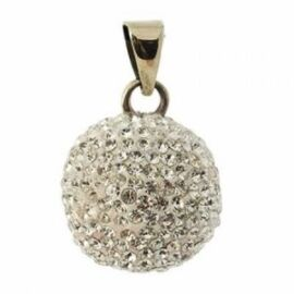 Bola argent strass brillants