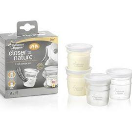 Pots de consevation pour lait maternel Tommee Tippee