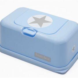 Boite à lingettes Funky Box Bleu - Etoile argent