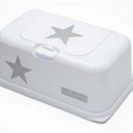 Boite à lingettes Funky Box Blanc et étoile argent