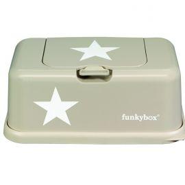 Boite à lingettes Funky Box Beige étoile blanc