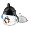 Gobelet anti-fuite Pingouin 260ml Noir