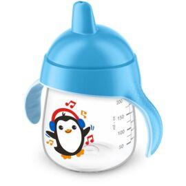 Gobelet anti-fuite Pingouin 260ml Bleu