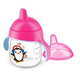 Gobelet anti-fuite Pingouin 260ml Rose