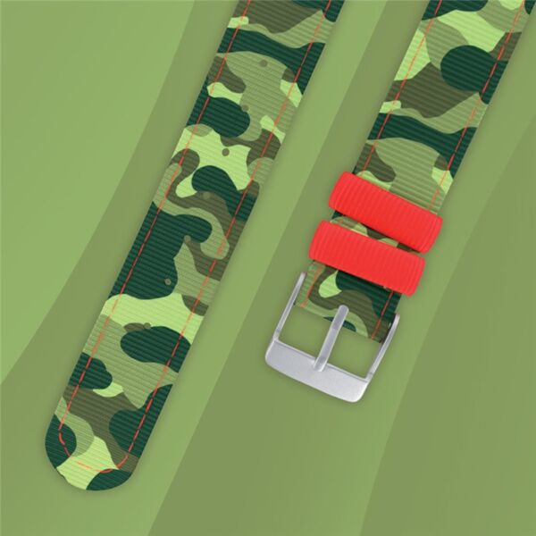 Bracelet montre Camouflage vert Twistiti