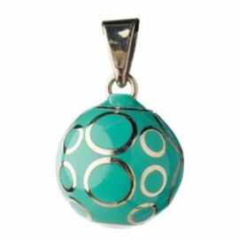Bola volutes turquoise