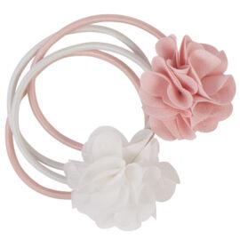 Lot d'élastiques rose et blanc