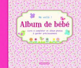 Album de bébé Me voilà Rose