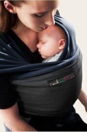 """Echarpe """" L'originale """" Je porte mon bébé Bleu nuit - Noir"""