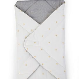 BABYWRAPPER UNIVERSEL 75x75 JERSEY GOLD DOTS