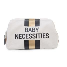 BABY NECESSITIES CANVAS OFF WHITE STRIPES BLACK/GOLD