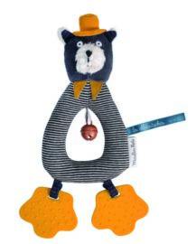 Anneau-hochet chat gris Alphonse Les Moustaches