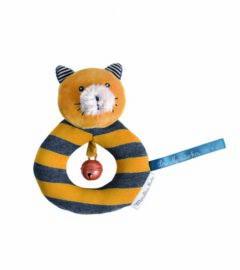 Anneau-hochet chat moutarde Lulu Les Moustaches