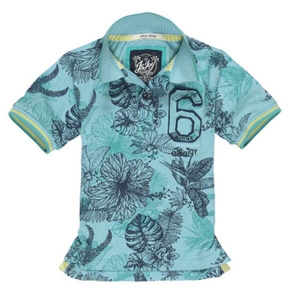 1901 B POLO07 HAWAIIAN FLOWERS