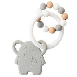 Hochet silicone éléphant Lapidou