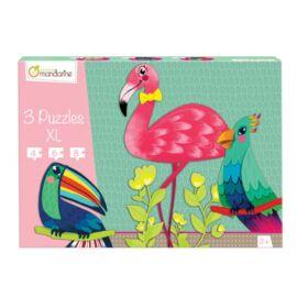 3 Puzzles XL, Oiseaux tropicaux