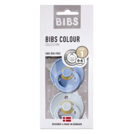 Duo sucettes BIBS Sky blue/Baby blue T1