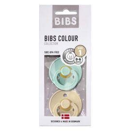 Duo sucettes BIBS Mint/Beige T1