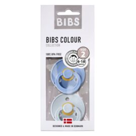 Duo sucettes BIBS Sky blue/Baby blue T2