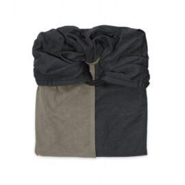 la petite echarpe sans noeud anthracite olive reversible (1)
