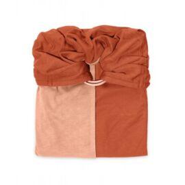 la petite echarpe sans noeud nude caramel reversible