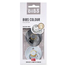 [110223] pack x2 bibs colour t1 (gris fer bleu layette)