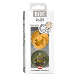 [110273] pack x2 bibs colour t1 (miel olive)